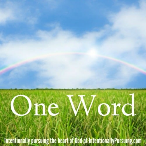 One Word - IntentionallyPursuing.com