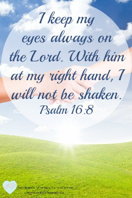 Psalm 16:8 - Right Hand of God - IntentionallyPursuing.com